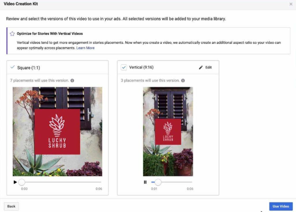 Facebook adds placement tools for Video Creation Kit